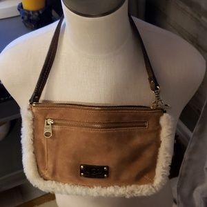 Ugg tan suede small bag